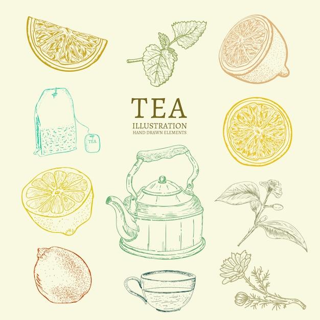 Tee-auflistung Premium Vektoren