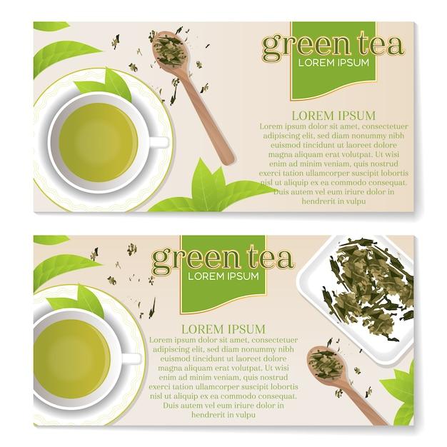 Tee-broschüren design Kostenlosen Vektoren