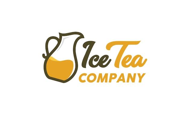 Teekanne logo design inspiration Premium Vektoren