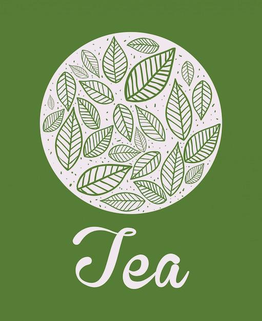 Teezeitentwurf Premium Vektoren