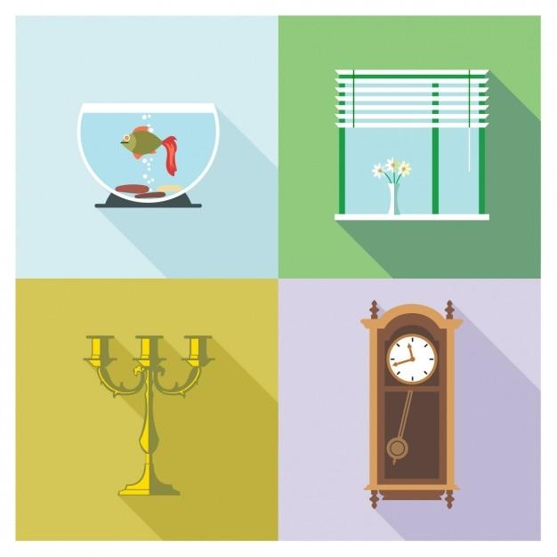 teile eines hauses download der kostenlosen vektor. Black Bedroom Furniture Sets. Home Design Ideas