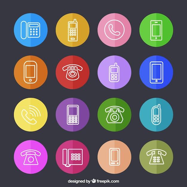 Telefon-icons Kostenlosen Vektoren