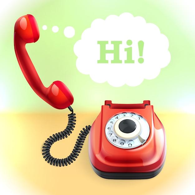 Telefon im retro-stil Kostenlosen Vektoren