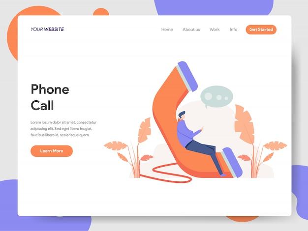 Telefonanruf illustration Premium Vektoren