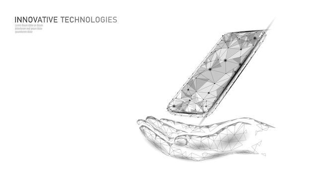 Telefonservice reparatur hilfe geschäftskonzept. handpflege mobiles smartphone defekter bildschirm. softwarefehler fehlerdaten verloren. sicherheitswarnung für virenangriffsinformationen Premium Vektoren