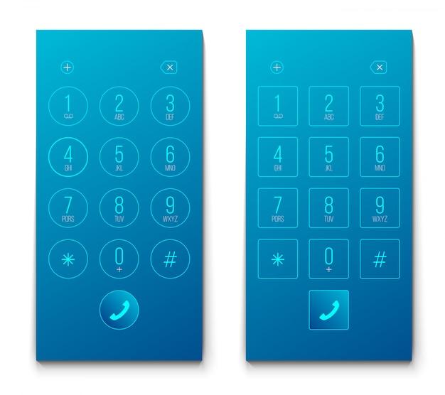 Telefonvorwahlknopf, tastatur smartphone nummeriert smartphone. Premium Vektoren