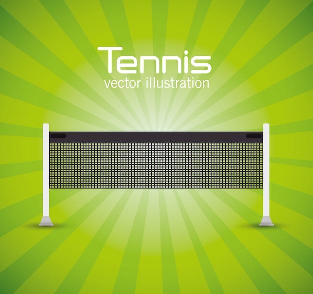 Tennisnetzgrünheller hintergrundvektorillustration env 10 Premium Vektoren