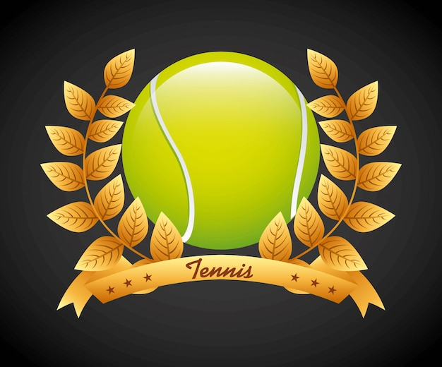 Tennissport Premium Vektoren