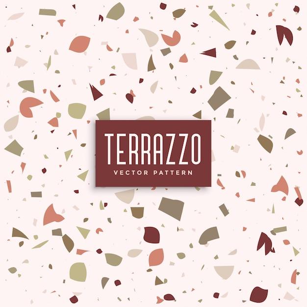 Terrazzo-marmorbodenmusterhintergrund Kostenlosen Vektoren