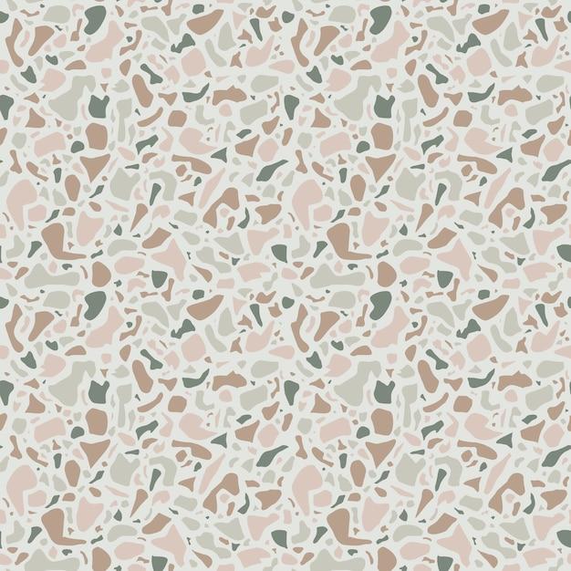 Terrazzohintergrundbeschaffenheit. nahtloses muster. grüner naturstein, glas, quarz, beton, marmor. klassischer italienischer bodentyp. terrazzo-design. Premium Vektoren