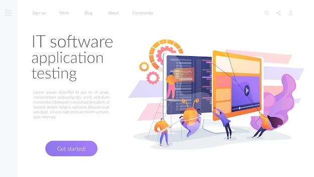 Testen von it-softwareanwendungen Kostenlosen Vektoren