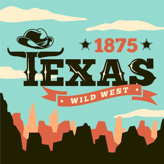 Texas stadt schriftzug Kostenlosen Vektoren