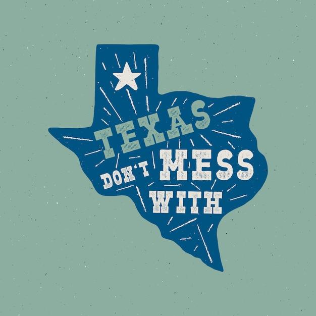 Texas state abzeichen Premium Vektoren