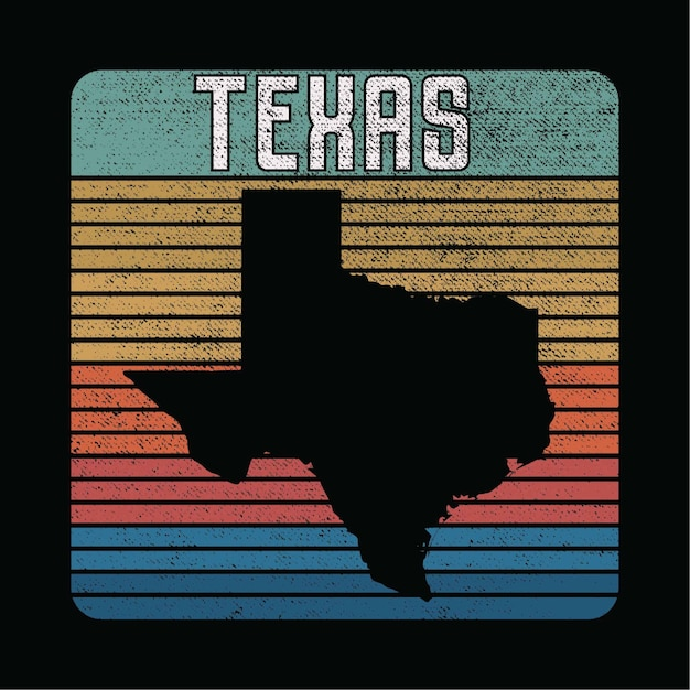 Texas state illustration Premium Vektoren