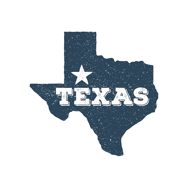 Texas vektorkartenstempel Premium Vektoren