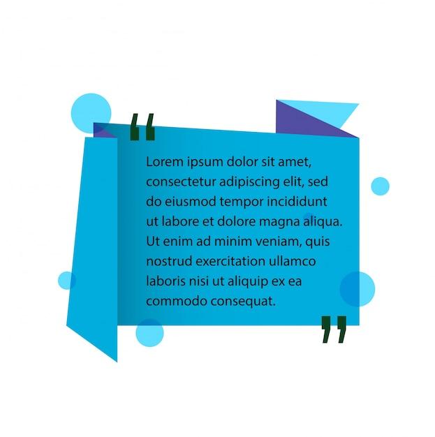 Text in anführungszeichen zitat designelement. Premium Vektoren