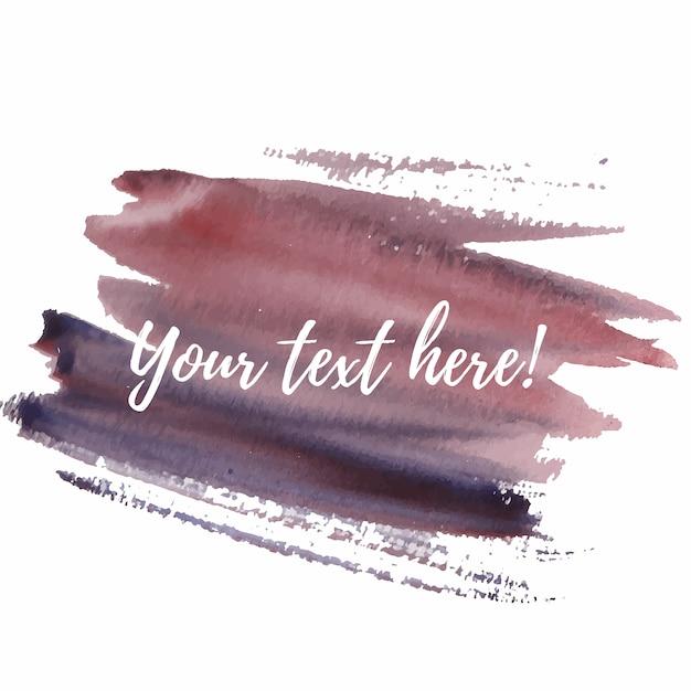 Text vorlage mit aquarell hintergrund Kostenlosen Vektoren