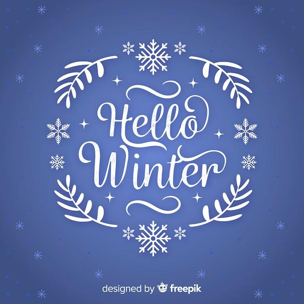 Text winterkranz hintergrund Kostenlosen Vektoren
