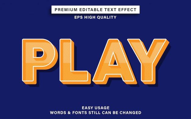 Texteffekt abspielen Premium Vektoren