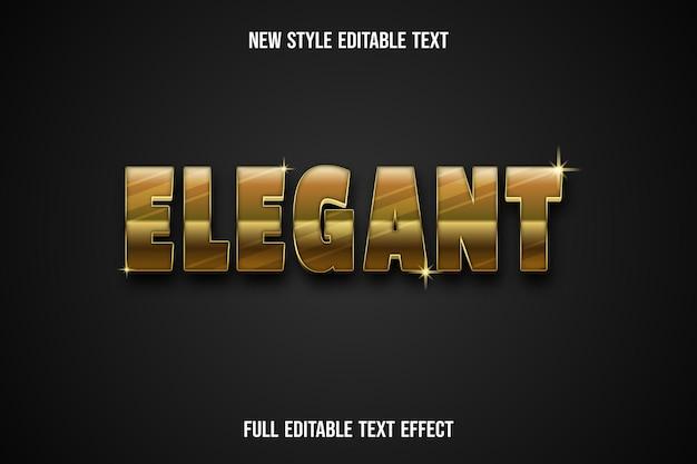 Texteffekt elegante farbe gold und schwarz Premium Vektoren