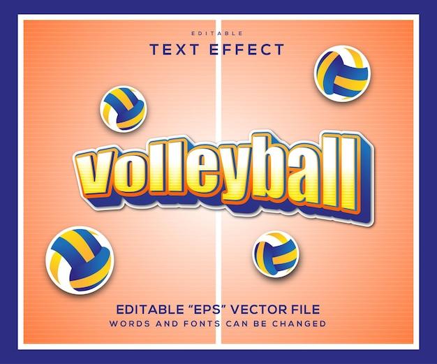 Texteffekt im volleyball-stil Premium Vektoren
