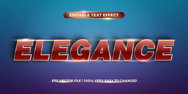 Texteffekt in eleganzwörtern texteffektthema editierbares metallrotgoldfarbkonzept Premium Vektoren