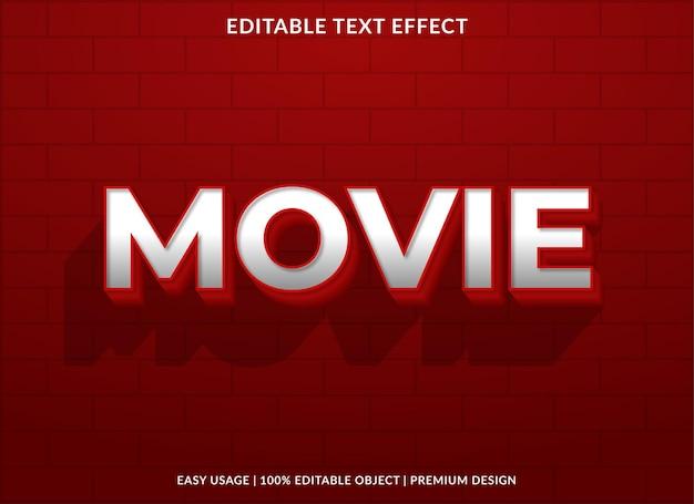 Texteffektvorlage im fettdruck des films Premium Vektoren