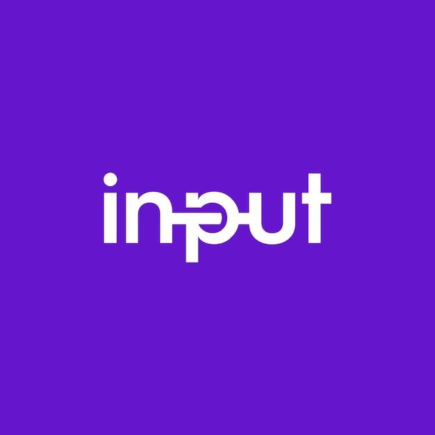 Texteingabe für das logo-design und seine einzigartigen und einfachen illustrationen mit einem modernen touch des logo-designs Premium Vektoren