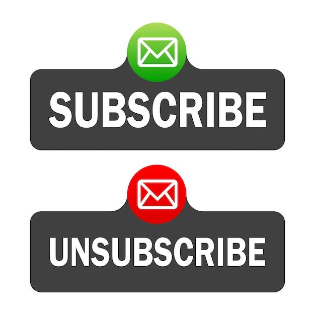 Textfeld- und abonnementschaltflächenvorlage mit dem benachrichtigungsglockensymbol. Premium Vektoren