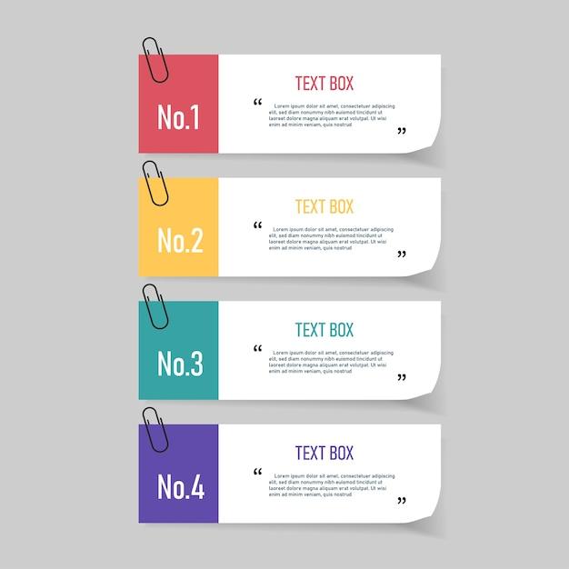Textfelddesign mit notizpapieren. Premium Vektoren
