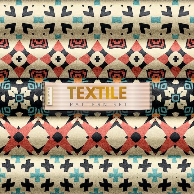 Textilmuster gesetzt Premium Vektoren