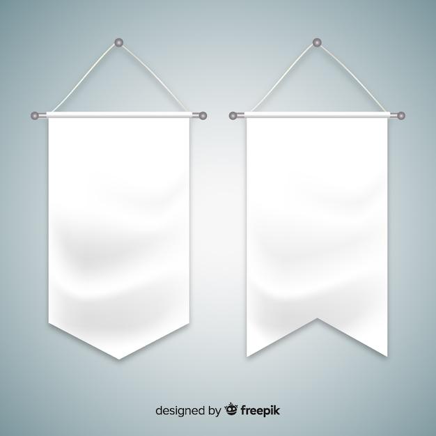 Textilwimpel Kostenlosen Vektoren
