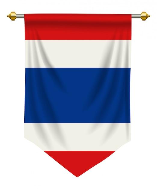 Thailand wimpel Premium Vektoren
