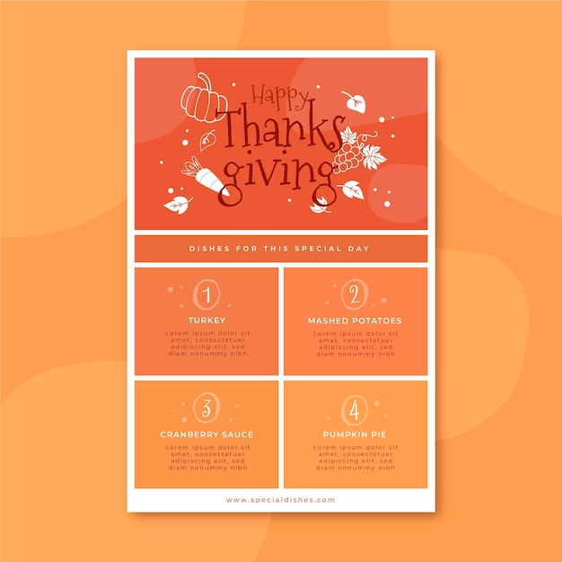 Thanksgiving blog post vorlage Kostenlosen Vektoren