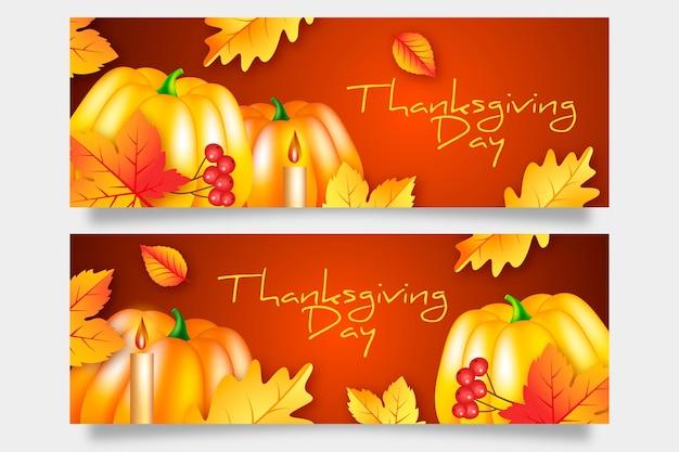 Thanksgiving day banner vorlage Kostenlosen Vektoren