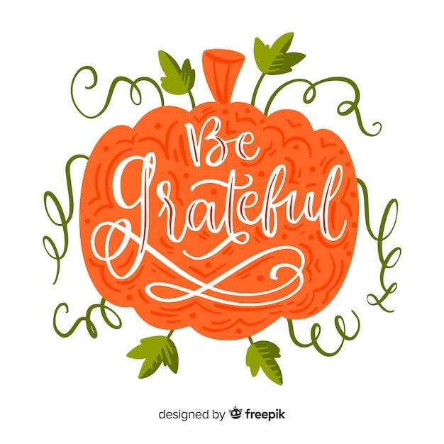Thanksgiving day schriftzug konzept Kostenlosen Vektoren