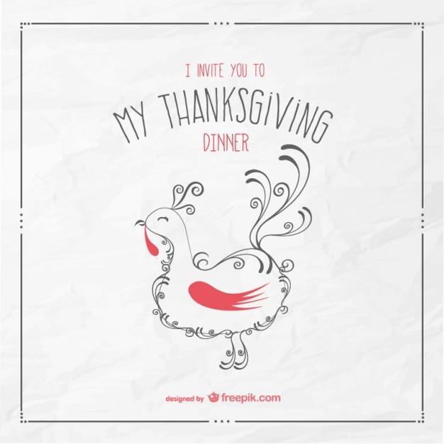 Thanksgiving Dinner Einladung | Download der kostenlosen Vektor