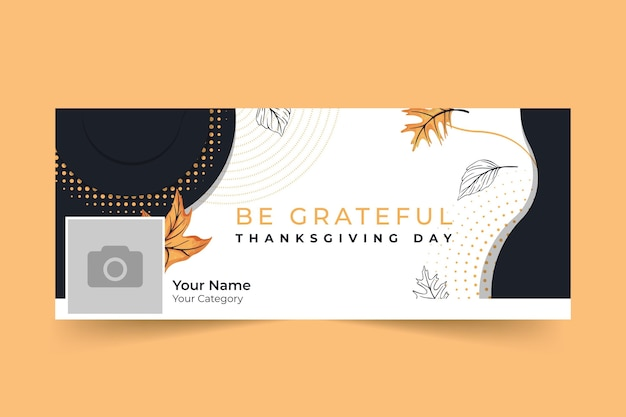 Thanksgiving facebook cover Kostenlosen Vektoren