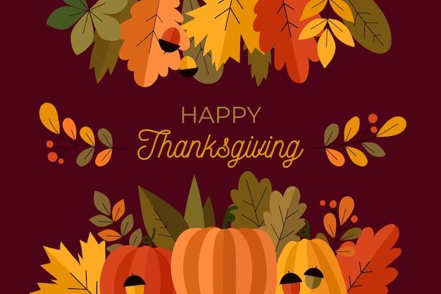 Thanksgiving-hintergrund im flat design Kostenlosen Vektoren