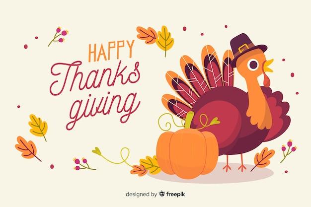 Thanksgiving hintergrund in der hand gezeichnet Kostenlosen Vektoren