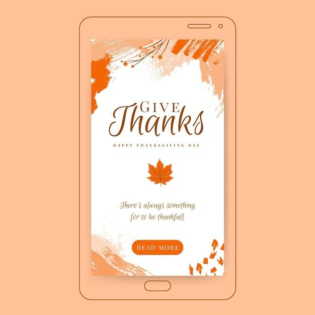 Thanksgiving instagram geschichte Kostenlosen Vektoren