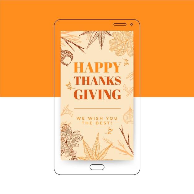 Thanksgiving instagram story vorlage Kostenlosen Vektoren
