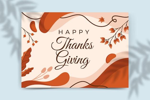 Thanksgiving-kartenvorlage Kostenlosen Vektoren