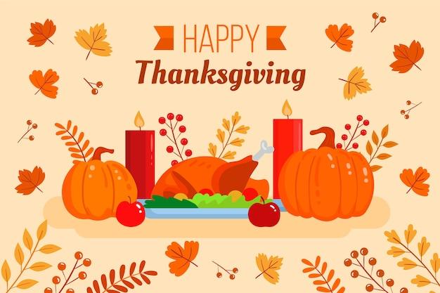 Thanksgiving-konzept im flachen design Kostenlosen Vektoren