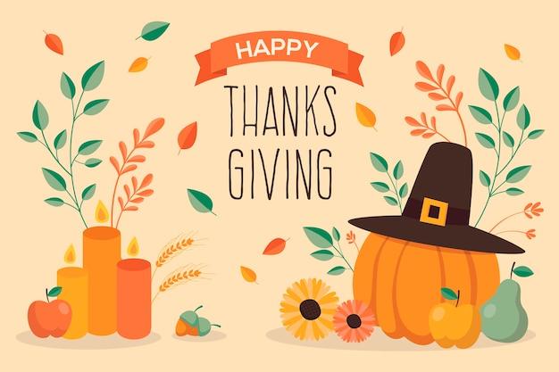 Thanksgiving-konzept in der hand gezeichnet Kostenlosen Vektoren