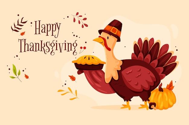 Thanksgiving-konzept in der hand gezeichnet Premium Vektoren