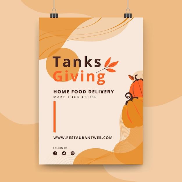 Thanksgiving-poster-vorlage Kostenlosen Vektoren