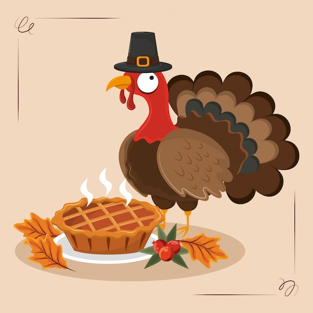 Thanksgiving-tag essen Premium Vektoren