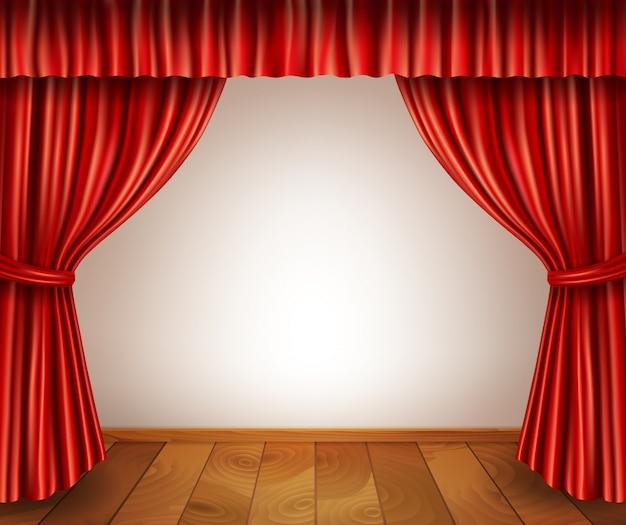Theater bühne hintergrund Kostenlosen Vektoren