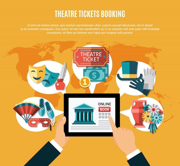 Theater flat zusammensetzung set Kostenlosen Vektoren